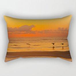 Four Pelican Sunrise Rectangular Pillow