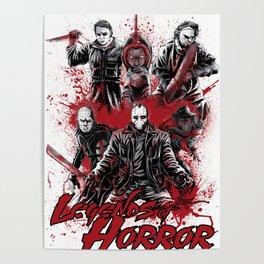 LEGENDS OF HORROR GRAY Poster