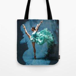 -O1- Blue Ballet Dancer Deep Feelings. Tote Bag