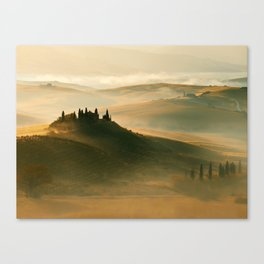Sunrise in Val D'Orcia Canvas Print