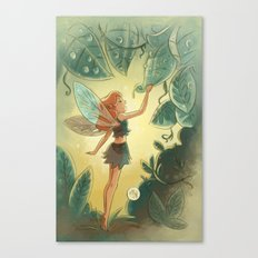Goblins Drool, Fairies Rule! - Morning Dew Canvas Print