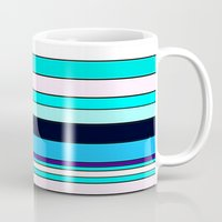 stripe Mugs featuring Stripe by Mishu & Casco