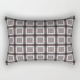 Gray Plaid Pattern Rectangular Pillow