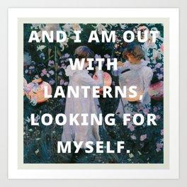 looking for myself Art Print