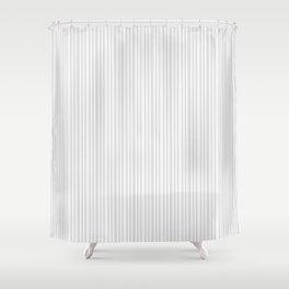Pastel gray white vintage stylish geometrical stripes Shower Curtain