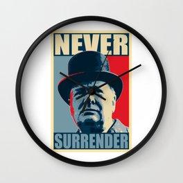 Never Surrender Wall Clock
