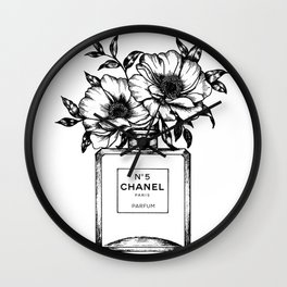 Foral Fragrance Wall Clock