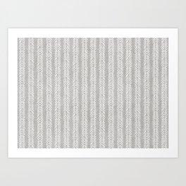 Mud cloth - Grey Arrowheads Art Print