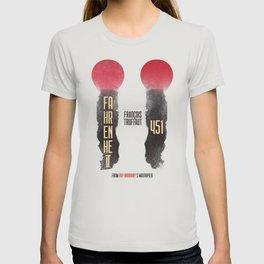 Fahrenheit 451, François Truffaut, french movie, british film, Ray Bradbury,  dystopian novel, book T-shirt