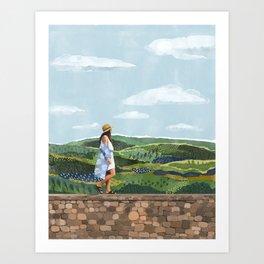 Wandering through Tuscany Art Print