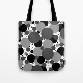 Grey Polka Dots Tote Bag