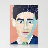 kafka Stationery Cards featuring Franz Kafka by Ellen Pater