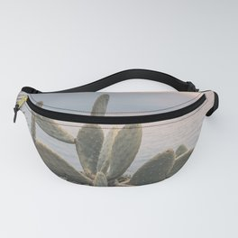 Sunset With Cactus Atlantic Ocean View Fanny Pack