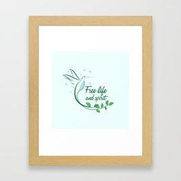 Hummingbird Free Life Quote Framed Art Print