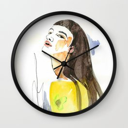 long hair fashion girl Wall Clock
