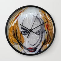 blondie Wall Clocks featuring Blondie by Capracotta Art