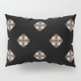 Simulated illuminated diamond pattern Pillow Sham