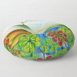 Foggy flower valley Floor Pillow