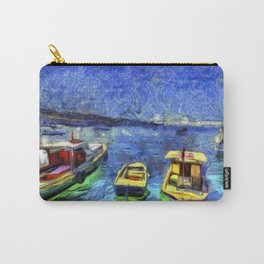 Boats and Sea Impressionist Art Carry-All Pouch