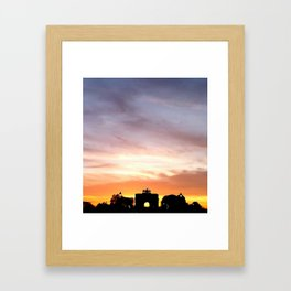 Sunset in Paris Framed Art Print