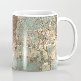 Turquoise and Fawn Brown Marble Coffee Mug
