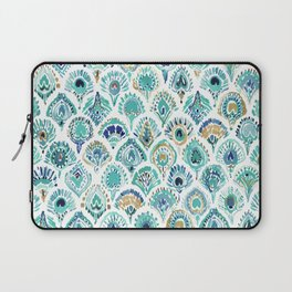 PEACOCK MERMAID Nautical Scales and Feathers Laptop Sleeve