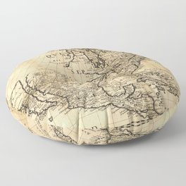 Amerique Septentrionale, Map of North America (1650) Floor Pillow