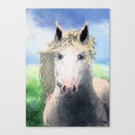 Horse Vitral Canvas Print