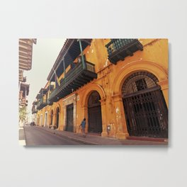 Swinging Yellow - Enchanting Cartagena de Indias - Magical Realism Metal Print
