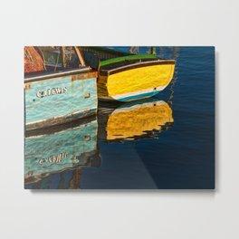 Boat Reflections Metal Print