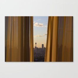 Sneaky City Sunset Canvas Print