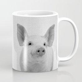 Pig - Black & White Coffee Mug