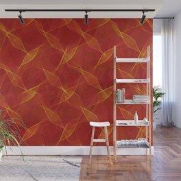ZoooooZ red Pattern Wall Mural