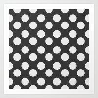 polka dots Art Prints featuring Polka Dots by NobuDesign