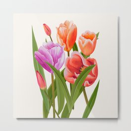 Colorful Flower Bouqet Painting Metal Print