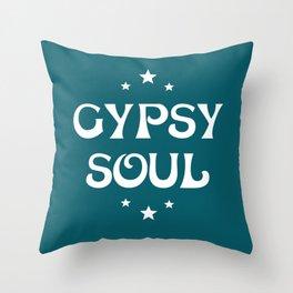 Gypsy Soul Mystical Stars Teal Throw Pillow