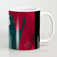 allison argent Mugs featuring Allison - Deep In Red by xKxDx