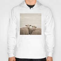 sheep Hoodies featuring Smiling Sheep  by Laura Ruth