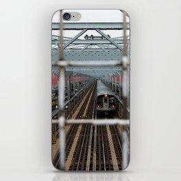J Train - Williamsburg Bridge iPhone Skin