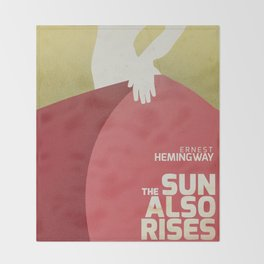 The sun also rises, Fiesta, Ernest Hemingway, classic book cover Throw Blanket