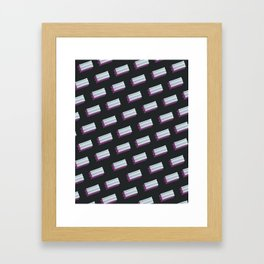 bubble gum love (black) Framed Art Print