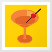 cocktail Art Prints featuring Cocktail by Superlust