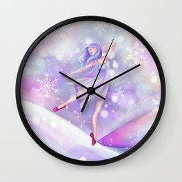Winter Lavender Ballerina Wall Clock