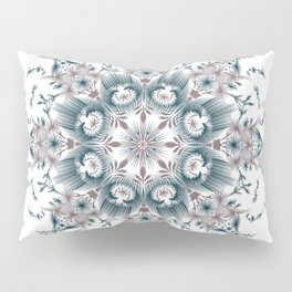 Kat Scratch • Digital Mandela • Dusty Purple & Blue Pillow Sham