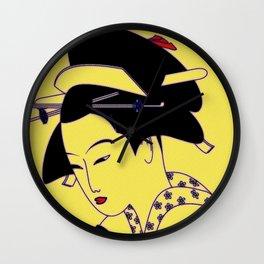 Geisha Portrait Wall Clock