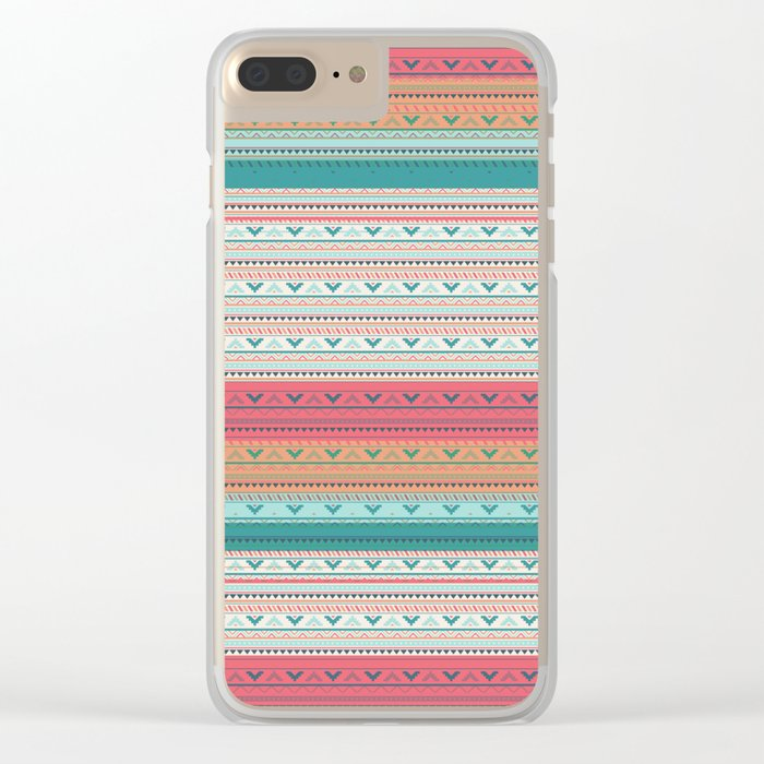 Vintage pattern - Spring Clear iPhone Case