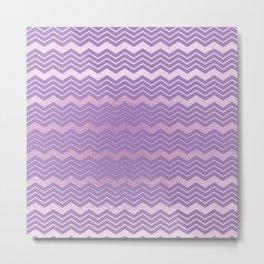 Modern lavender lilac geometrical chevron motif Metal Print