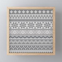 Fair Isle Gray Framed Mini Art Print