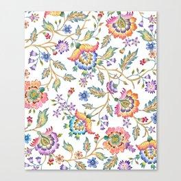 floral pattern white Canvas Print