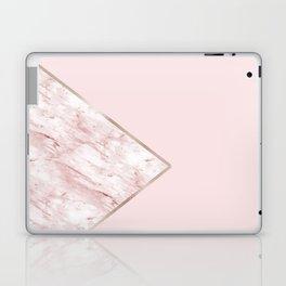 Blush pink geo - pink marble Laptop & iPad Skin